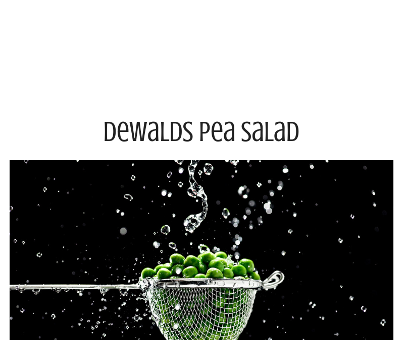 Dewalds Little Pea Salad