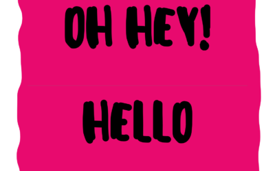 Oh Hey!  Hello, Bonjour, Ciao…